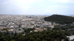 Modern Athens seen from the Acropolis Stock Footage