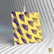 Business card. Abstract geometric polygonal background Stock Illustration