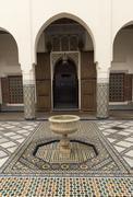 Courtyard, Museum of Marrakech, Medina, Marrakesh, Morocco, North Africa, Africa - stock photo