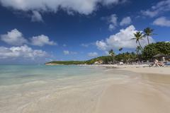 Dickinson Bay overlooking the Caribbean Sea, Antigua, Leeward Islands, West Stock Photos