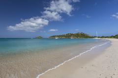 Deep Bay, a beach on the island of Antigua, Leeward Islands, West Indies, - stock photo