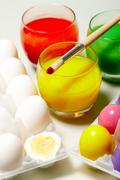 Easter preparations - stock photo