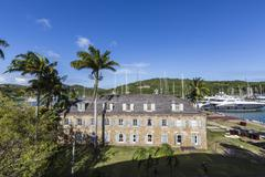 View of Fort James, the main historic building of Antigua, built by the British Stock Photos