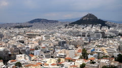 Stock Video Footage of Modern Athens and the capitol hill from the Acropolis