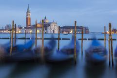 Dawn view to San Giorgio Maggiore, Venice, UNESCO World Heritage Site, Veneto, - stock photo