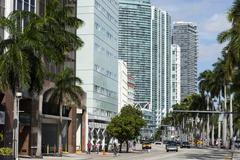 Modern buildings along Biscayne Boulevard, Downtown Miami, Miami, Florida, Stock Photos