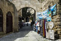 The Medieval Old Town. UNESCO World Heritage Site, City of Rhodes, Rhodes, Stock Photos