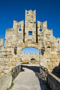 Liberty Gate, the Medieval Old Town of the City of Rhodes, UNESCO World Heritage Stock Photos