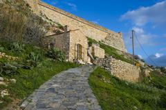 The Fortezza, fortress in Rethymno, Crete, Greek Islands, Greece, Europe - stock photo