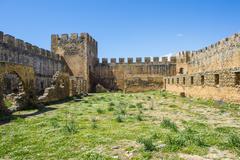 Fortress Frangokastello, Crete, Greek Islands, Greece, Europe - stock photo