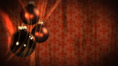 Copper Christmas Ornaments-1080 background - stock footage