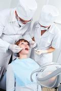 Visit to stomatologist - stock photo