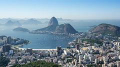 Timelapse View of Sugarloaf Mountain in Rio de Janeiro, Brazil Stock Footage