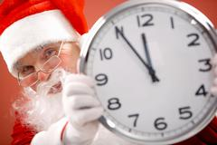 Five minutes to Christmas Stock Photos