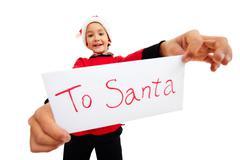 Christmas letter - stock photo