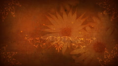 Brown Floral Title Plate - stock footage