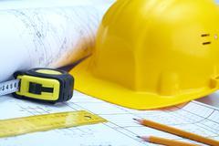 Instruments of builder Stock Photos