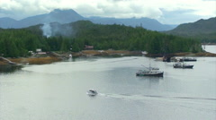 Ketchikan Alaska Shoreline - stock footage