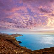 Cabo de Gata Almeria Levante east aerial Spain - stock photo
