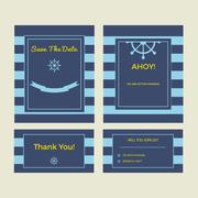 Set of wedding cards Stock Illustration