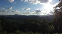 Sunset mountain lift off Stock Footage