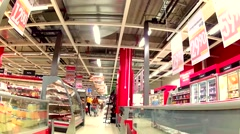 Shopping Grocery market 78sec Stock Footage