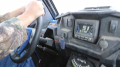 POV of Hands on Wheel Driving an ATV Stock Footage