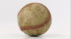 Grungy Baseball Rotating on White - stock footage
