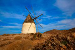 Almeria Molino de los Genoveses windmill Spain Stock Photos