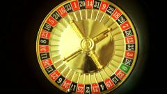 Roulette in the casino spins Stock Footage