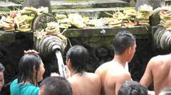 Pura Tirta Empul  Holy Water Temple Bali 4K Stock Footage