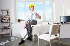 Foreman at work Stock Photos