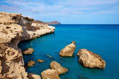 Almeria in Cabo de Gata Los Escullos beach Spain - stock photo