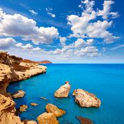 Almeria in Cabo de Gata Los Escullos beach Spain - stock photo