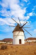 Stock Photo of Almeria Molino Pozo de los Frailes windmill Spain