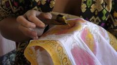 Batik printing 4K Stock Footage
