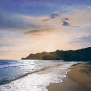 Almeria Playa del Monsul beach Cabo de Gata - stock photo