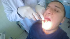 4k dentist preparation for tooth pulling out at stomatology centar. UHD stock Stock Footage