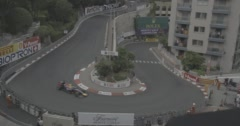 Monaco - Hairpin - Ricciardo, Alonso Stock Footage