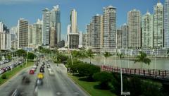 Panama cityscape - stock footage