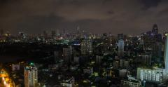 Stunning BANGKOK SKYLINE of City in 4K Stock Footage