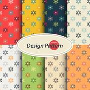 Scribble floral pattern - stock illustration