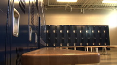 Locker Room Stock Footage