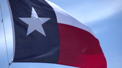 Texas Flag - stock footage