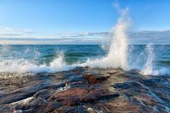 Big Wave on Lake Superior Stock Photos