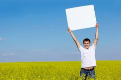 Guy with paper Stock Photos