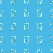 Stock Illustration of Tooth straight pattern