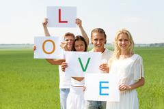 Love and friendship Stock Photos