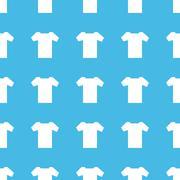 T-shirt straight pattern - stock illustration