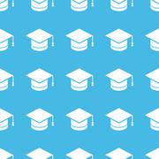 Academic hat straight pattern Stock Illustration